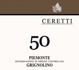"""""""50"""" Piedmont Grignolino DOC by Ceretti"""